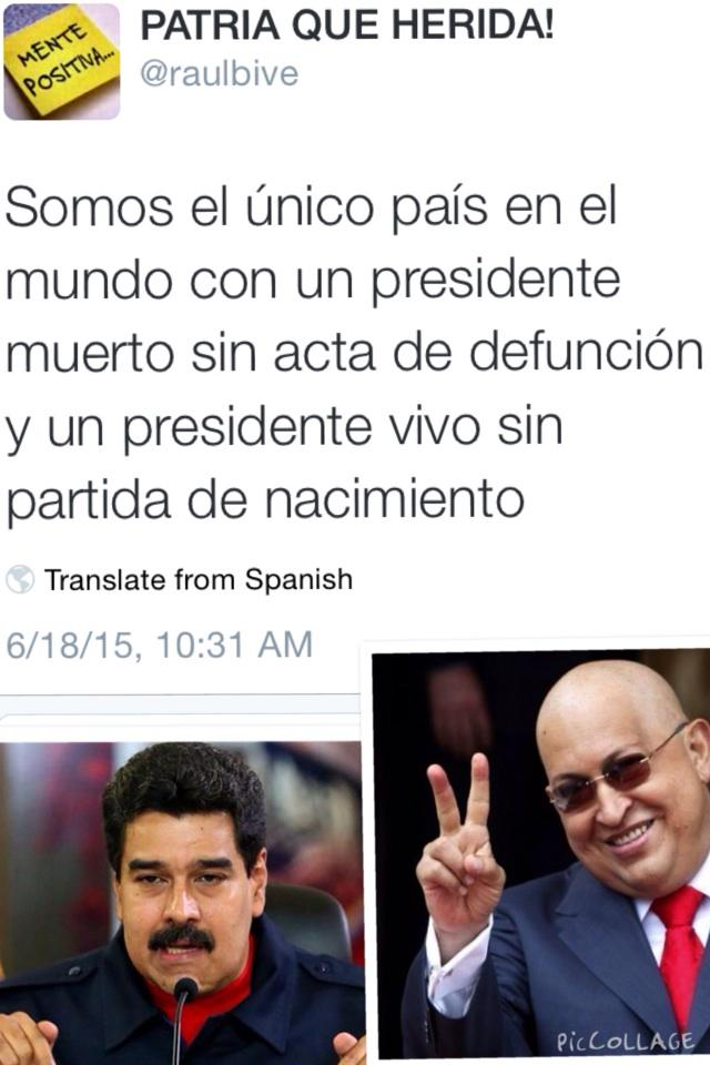 """@CASTORFAVELO: ESTE TWITTS QUIERE QUITARLO MADURO Y CABELLO A TODA COSTA!! AYUDEN A DIFUNDIRLO !! http://t.co/POa5lQuOoc"""
