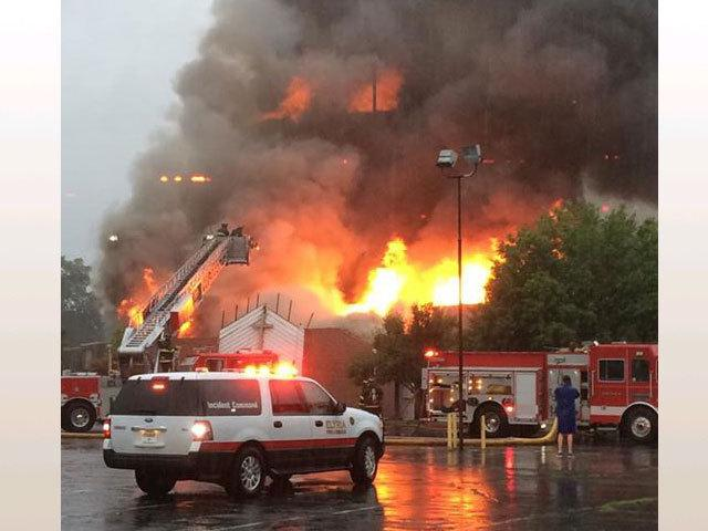 College Heights Baptist Church in Elyria destroyed by fire http://t.co/npSxdInhPE