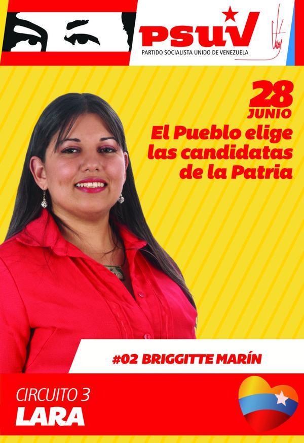 """▻TODO POR MI PATRIA◅ på Twitter: """"Via.@brigitcandanga El 28 NO son elecciones INTERNAS del PSUV El 28 EL PUEBLO ELIGE LOS CANDIDATOS DE LA PATRIA http://t.co/D0bYkxxVbb"""""""