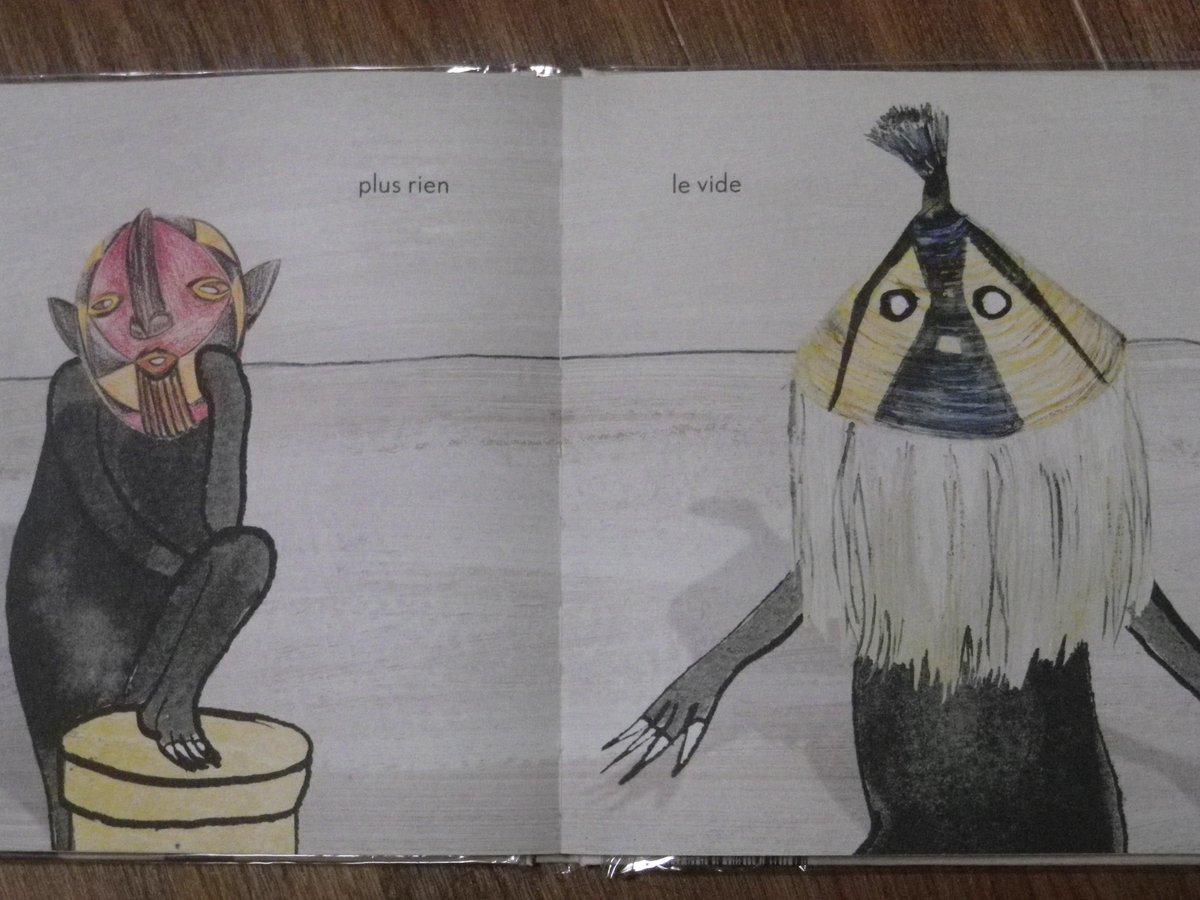 フランスから出ている、仮面の虎の巻のような絵本 (世界中の民族の)。[Monsieur cent têtes]