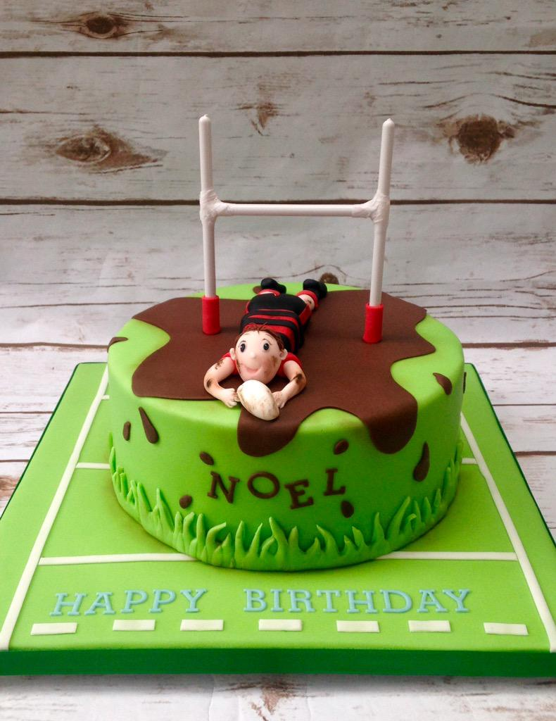 Denise Banks On Twitter Happy Birthday Noel Rugby Themed Cake