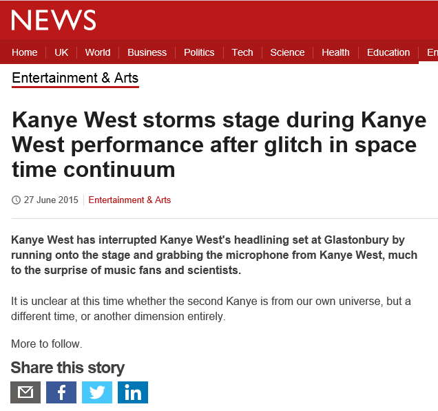 BREAKING NEWS: #Kanye http://t.co/cRcYkN0SPa