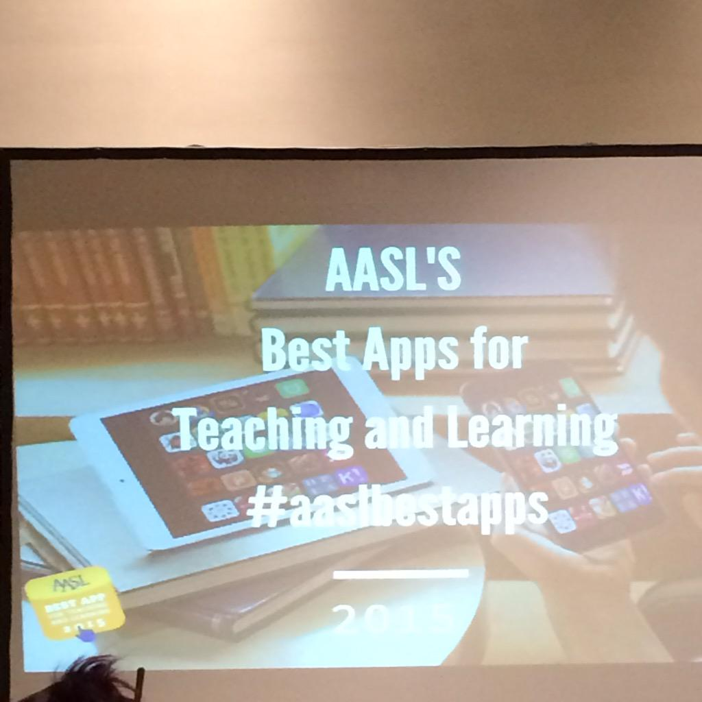 Ready for @aasl best apps! #alaaac15 #aaslbestapps http://t.co/pQ1X9lfQIL
