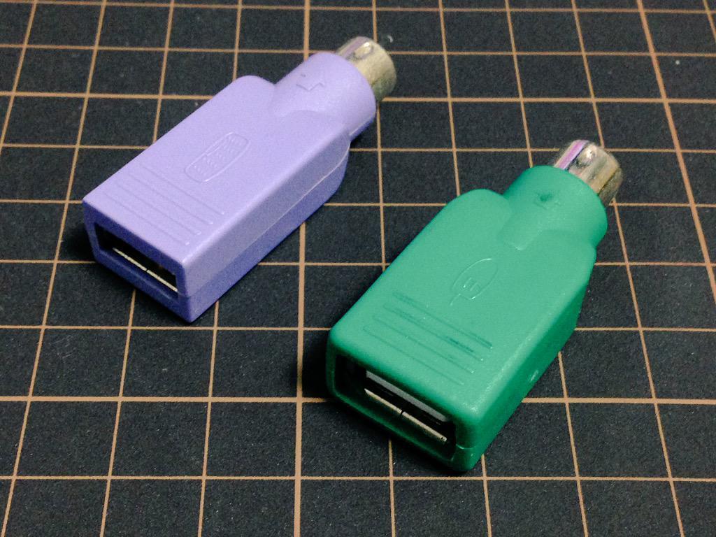 USBをPS/2にアレするやつ #インターネット老人会 http://t.co/RYTfJbSAgj