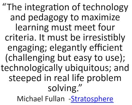 A3 the integration of tech & pedagogy to maximise learning must meet four criteria @MichaelFullan1 👇 #aussieED http://t.co/JRP5VeSz7I