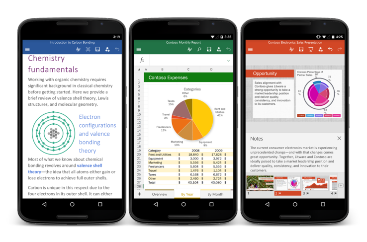Now you can get Microsoft Office for Android phone