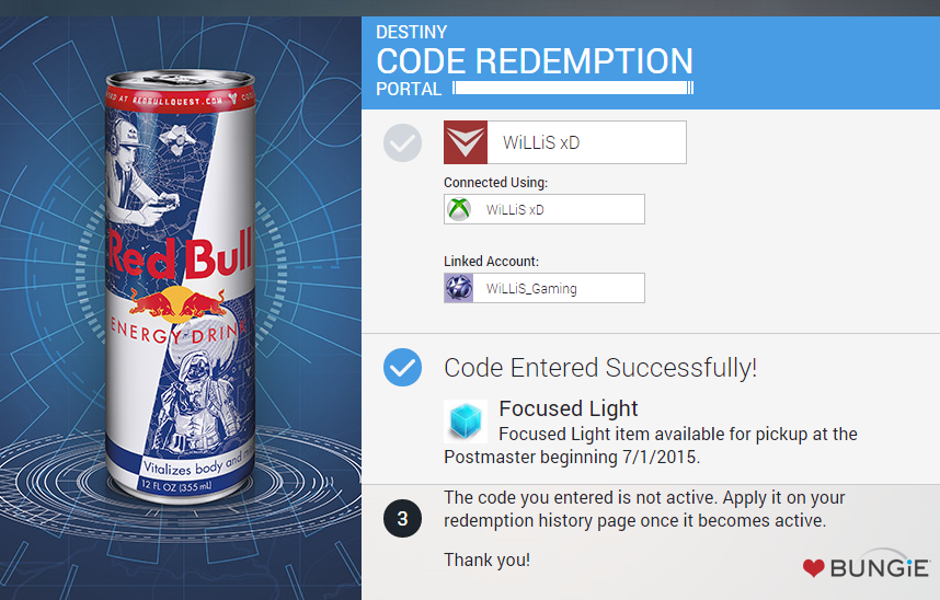 destiny 2 on twitter here s a destiny red bull code redeem it