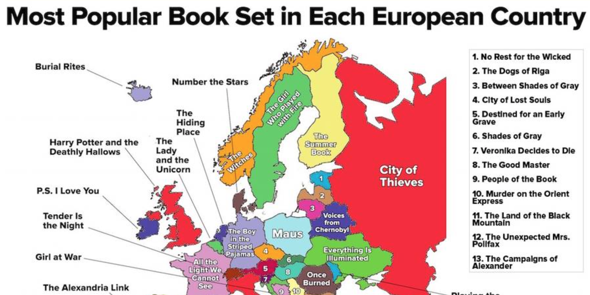 Goodreads On Twitter The Most Popular Book Set In Each European