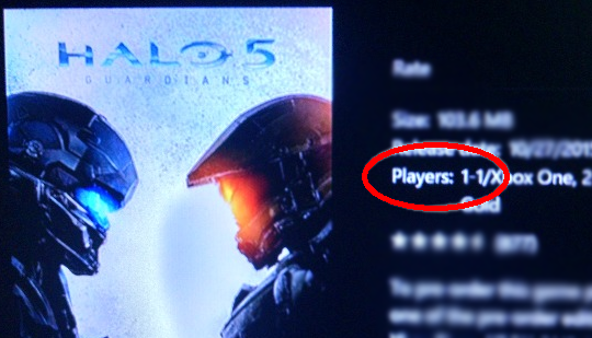 No local split screen for Halo 5 at all? Campaign or MP