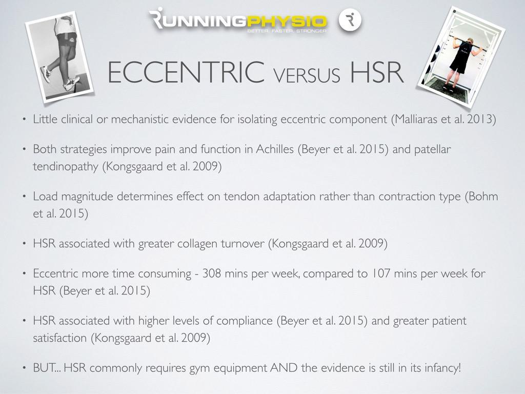 "RunningPhysio on Twitter: ""Eccentric loading versus Heavy ..."