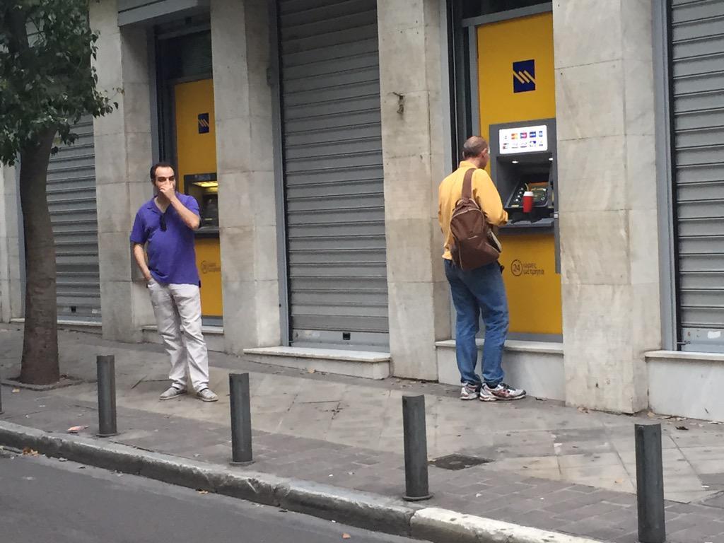 Bankwalk statt Bankrun. Hier gibt es keine Schlangen, weil es kein Geld mehr gibt. #Griechenland