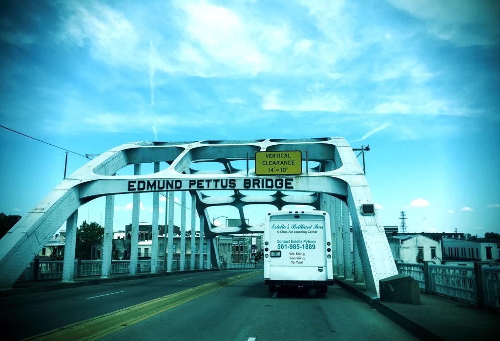 Just arrived #Selma w/#YesWeCode Freedom Riders @VanJones68 @shhwilson @yeswecode #livinghistory #digitalfreedomride http://t.co/fO8ONUK5kd