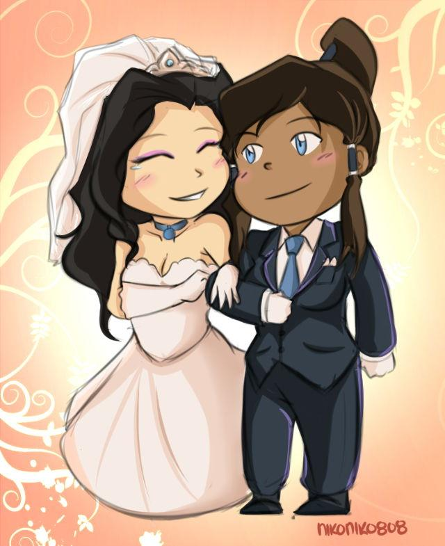 A more traditional choice of attire for @nikko_chan's #korrasami wedding... ;) #LoveWins http://t.co/ExLvTZIMeM