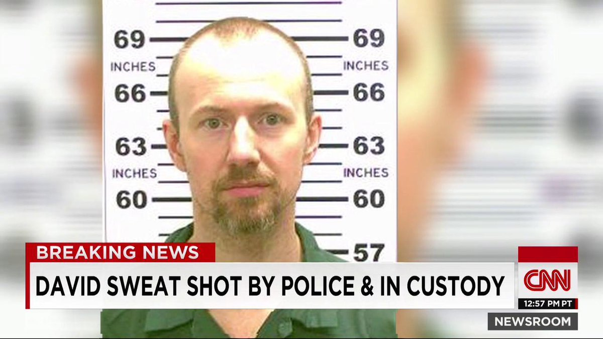 Escaped N.Y. convict David Sweat is in custody, law enforcement sources say. Watch CNNgo: http://t.co/HAhU3MmiMf http://t.co/r1Hf6nmwMT