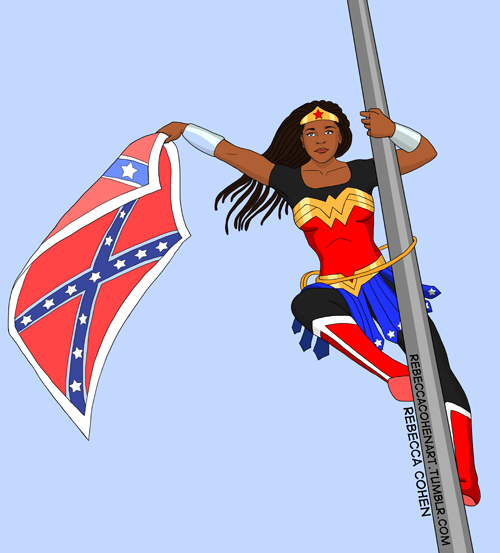 #BreeNewsome is now a folk hero and the voice of all who know real history of the confederate flag and want it down. http://t.co/AvmyYoHorf