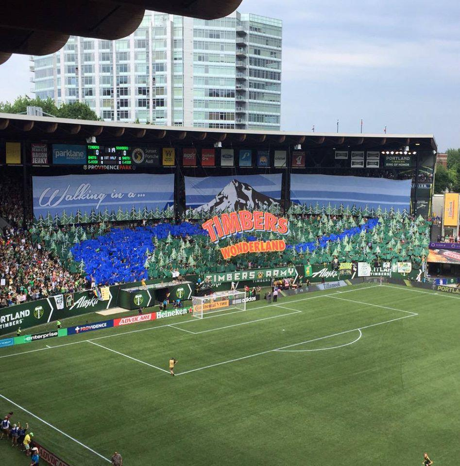 @timbersarmy Today's tifo was a masterpiece! Seriously, one of the most amazing pieces of artwork we've seen. Bravo! http://t.co/Z0NmVBl0Q9