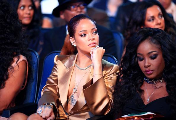 Rihanna stealing the show by simply sitting in the audience at the #BETAwards http://t.co/snjdw6dYla
