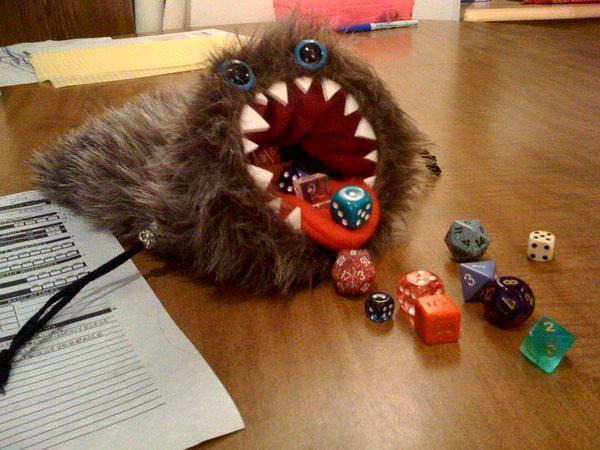 Greatest dice bag ever. http://t.co/V3LTaAObLS