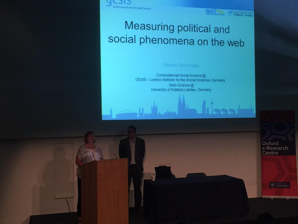 """The web not only reflects social issues, it shapes them"" @mstrohm #WebSci15 http://t.co/34jyZeizua"