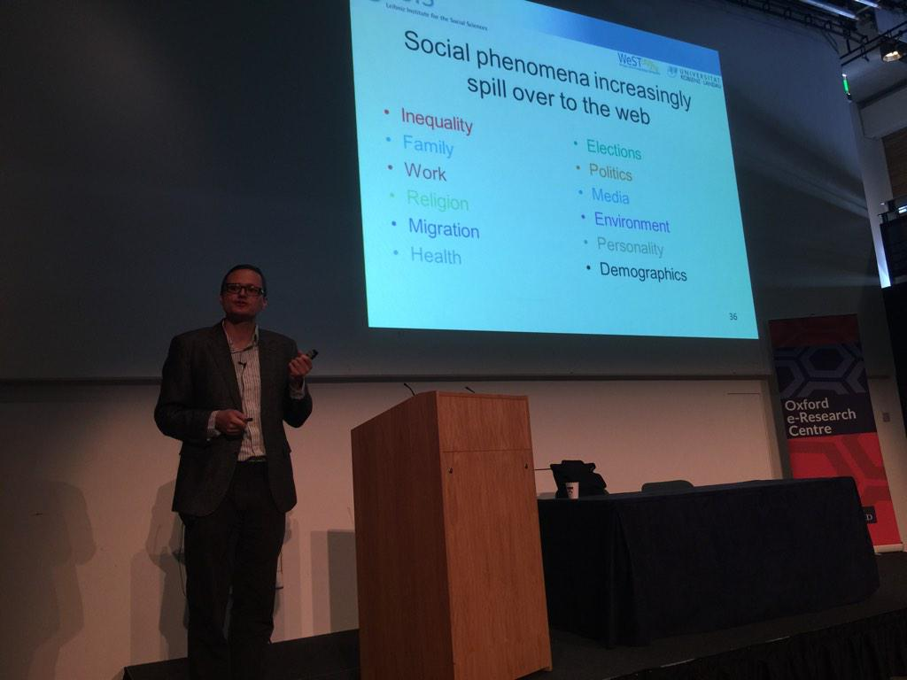 Social phenomena and the Web @mstrohm opening keynote for #websci15 in Oxford this week http://t.co/Oi470OSWkZ