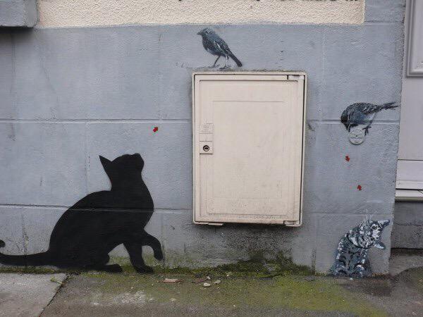 Clever Street Art https://t.co/pozXnGfFLC c @kristinem5 #streetart #art #travel #photography