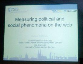 Today's keynote #websci15 http://t.co/MKnfAcAnoI