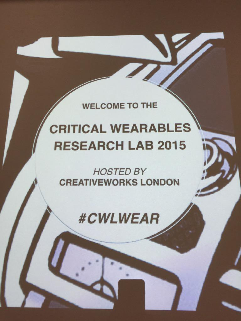We need more spaces like #cwlwear to help us understand how we deal with the future of #wearables http://t.co/OYG2pnToI1