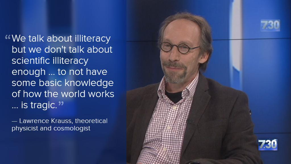 We tend to divorce science from culture, says @LKrauss1 #abc730