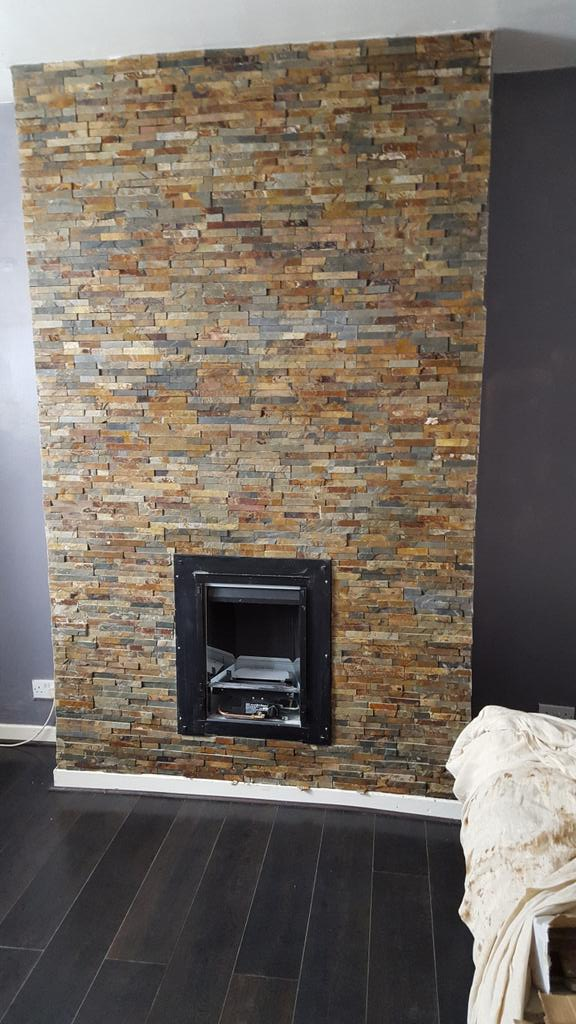 Ceramic solutions on twitter latest project by ceramic for Tiled chimney breast images