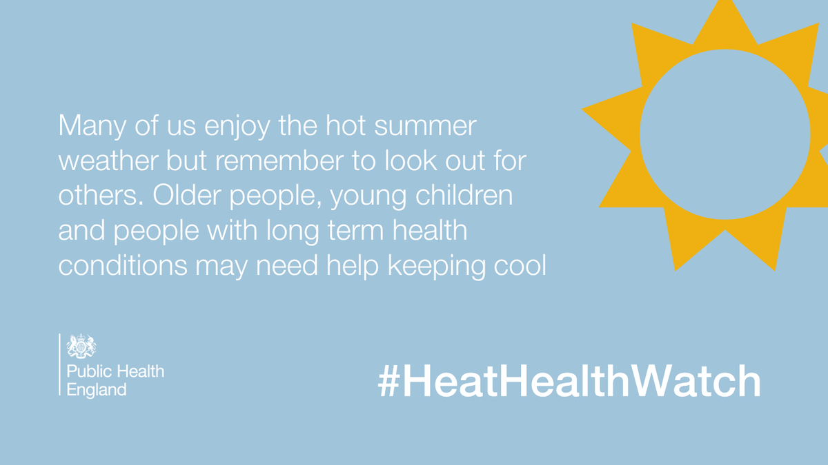 Get advice on helping those most at risk in hot weather from @NHSChoices http://t.co/yorQ18ntoT #HeatHealthWatch http://t.co/RKQlDtXawI