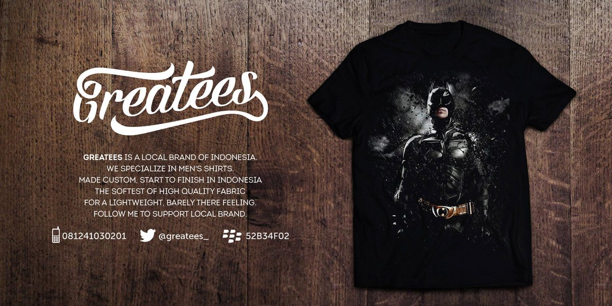 BATMAN READY !!! Cp : 081241030201 Bb : 52B34F02 http://t.co/Wf9w2Avq2X