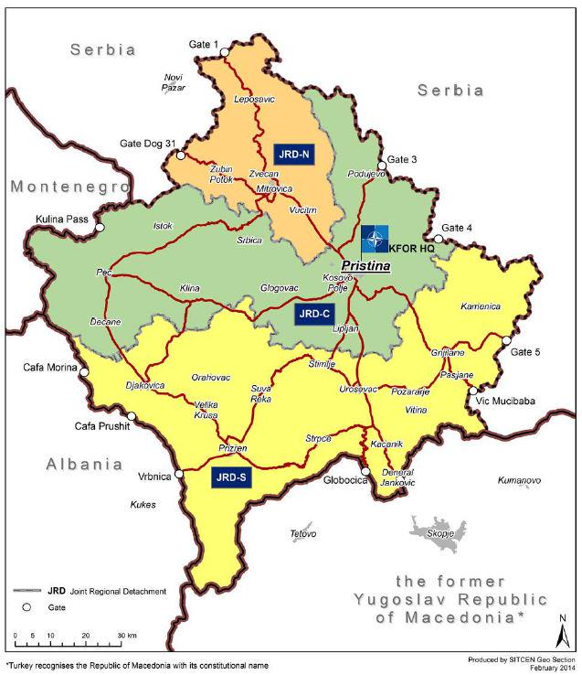 DefensieBE On Twitter Kosovo Force KFOR June Key Facts - Kosovo map hd pdf