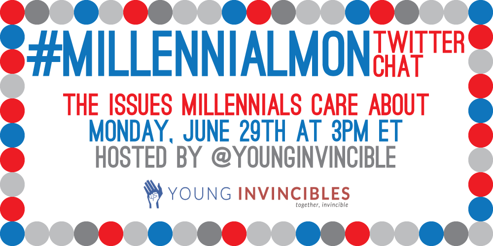 1hr until #MillennialMon on the big issues #Millennials will care about in the #2016election! Who's in? http://t.co/JDFDUMFkpg