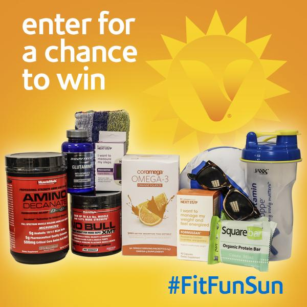 RT & Follow @vitaminshoppe for a chance win this ultimate #FitFunSun prize pack of #health & #wellness goodies!