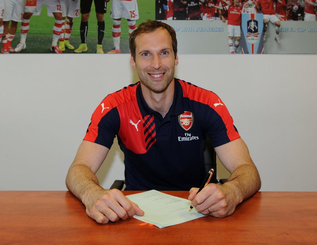 "Petr Cech on Twitter ""Very happy to announce that I have signed"