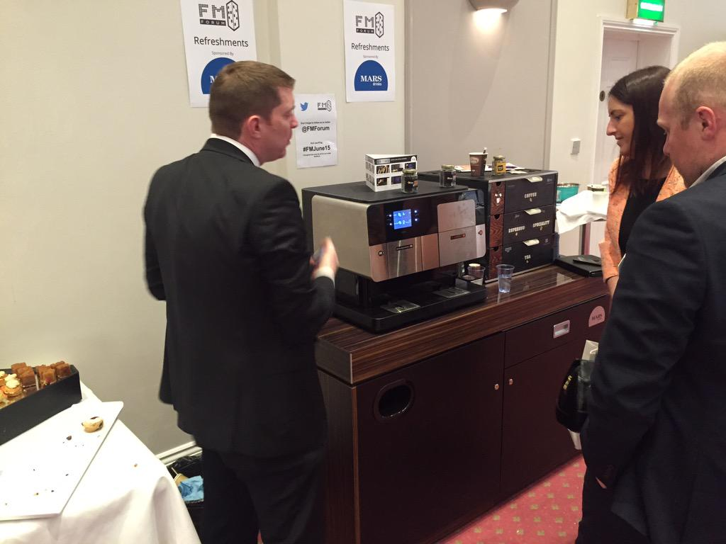 @marsdrinks_uk sponsors of the refreshments at the @FMForum explaining what they have to offer. #FMJune15 http://t.co/Yt0LSARPlP
