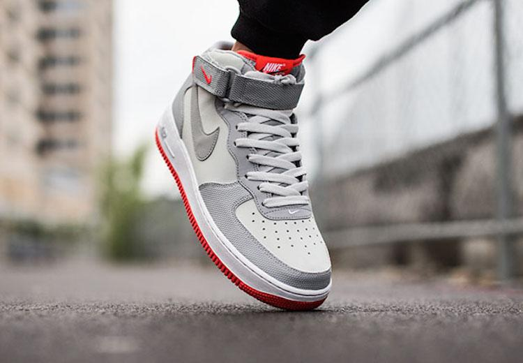 Nike Air Force 1 Mid Wolf GreyWhite | Nice Kicks