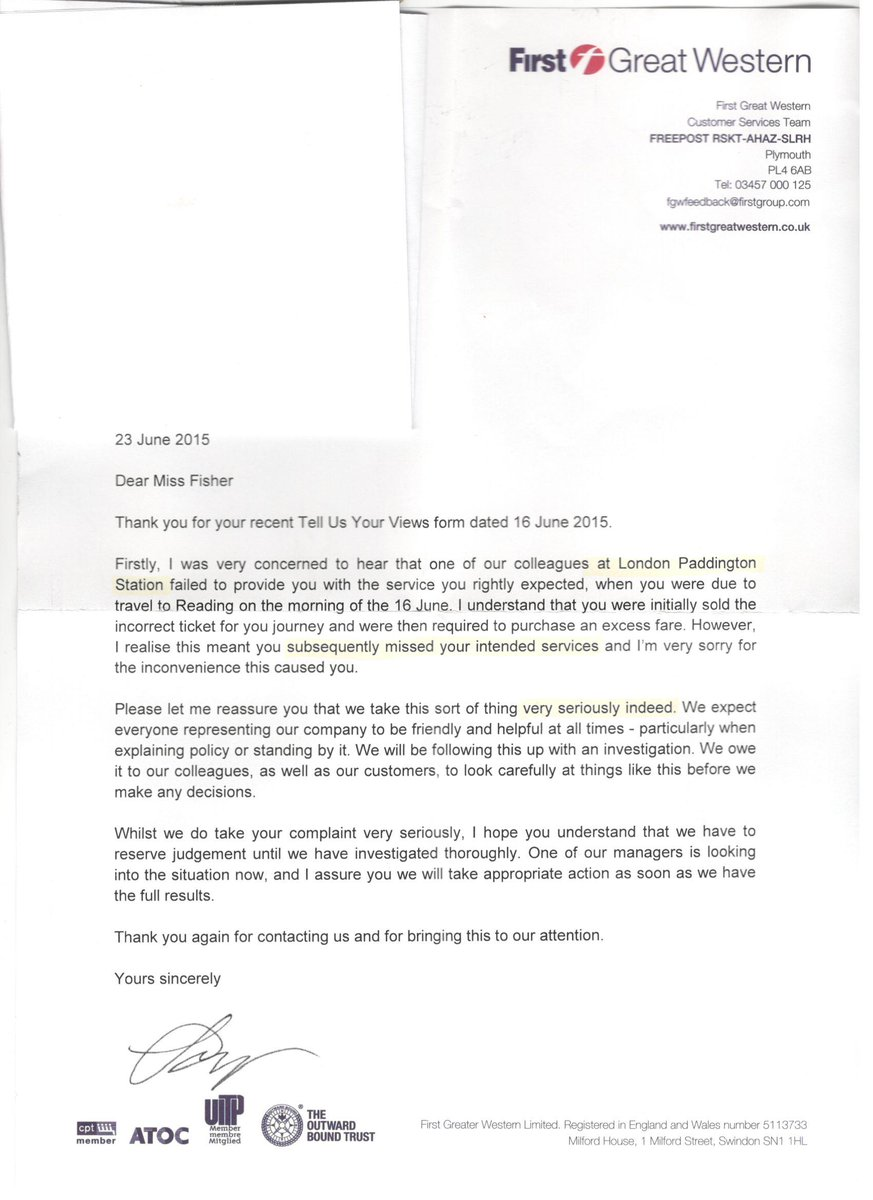 Hayley fisher on twitter ta for the letter telling me u take my hayley fisher on twitter ta for the letter telling me u take my complaint seriously fgw pity you got the problem station and journey wrong spiritdancerdesigns Choice Image