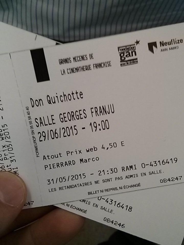 Projection de la copie de travail du Don Quichotte d'#OrsonWelles @cinemathequefr, séance complète ! #Welles100