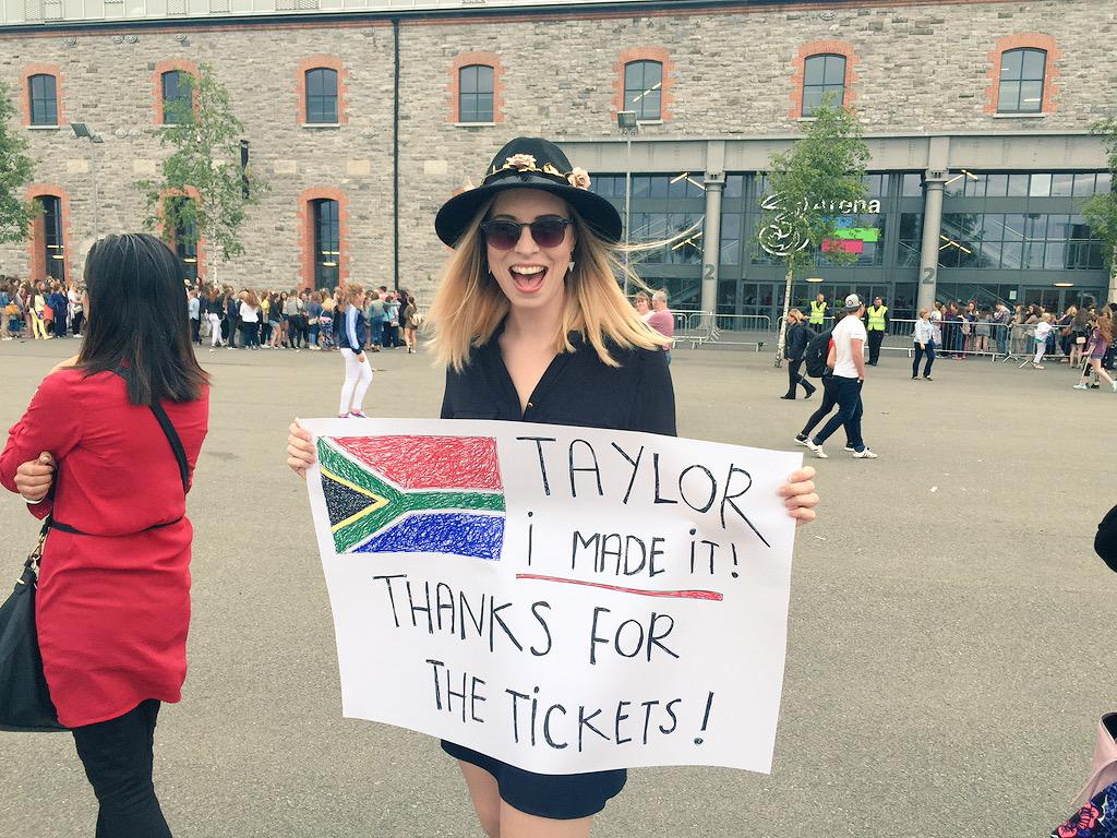 As if there was any doubt she wouldn't come through ;) THANK YOU @taylorswift13 #1989TourDublin