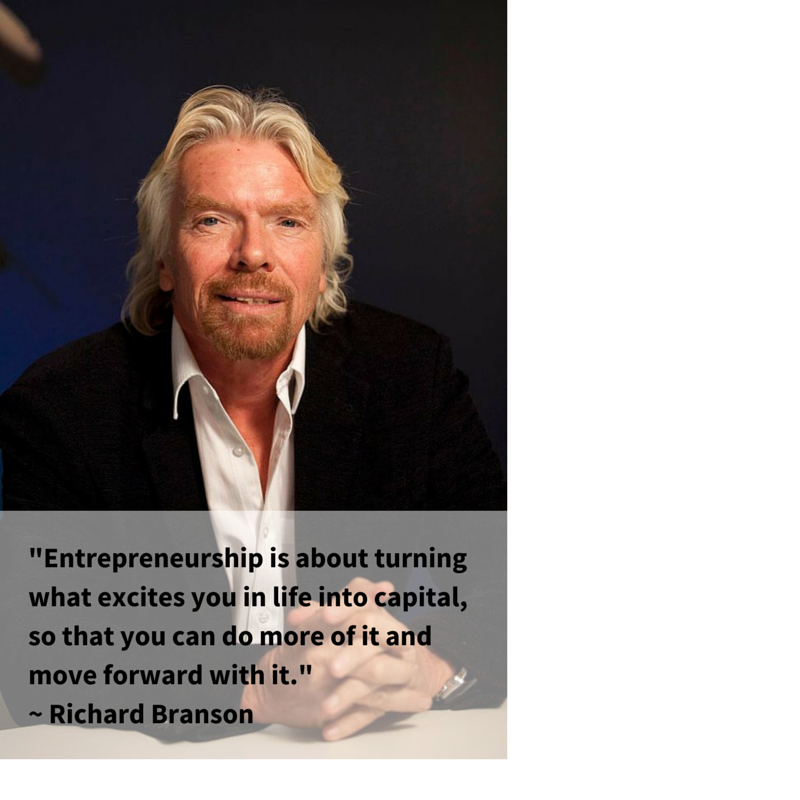 """""""Entrepreneurship is about turning what excites you in life into capital, so that you can do more of it &..."""" ~ RB http://t.co/8M7YKyToa5"""