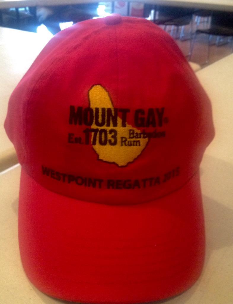 from Armani sailing mount gay rum hat