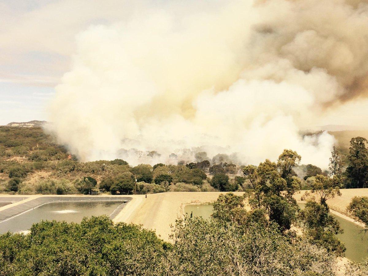 Mesa Fire Vegetation Fire Lompoc, Santa Barbara County