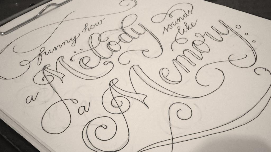 "PieTowel on Twitter: ""Funny how a melody sounds like a memory #Springsteen #lyrics #lettering #countrymusic http://t.co/TnbYZwLHsT"""