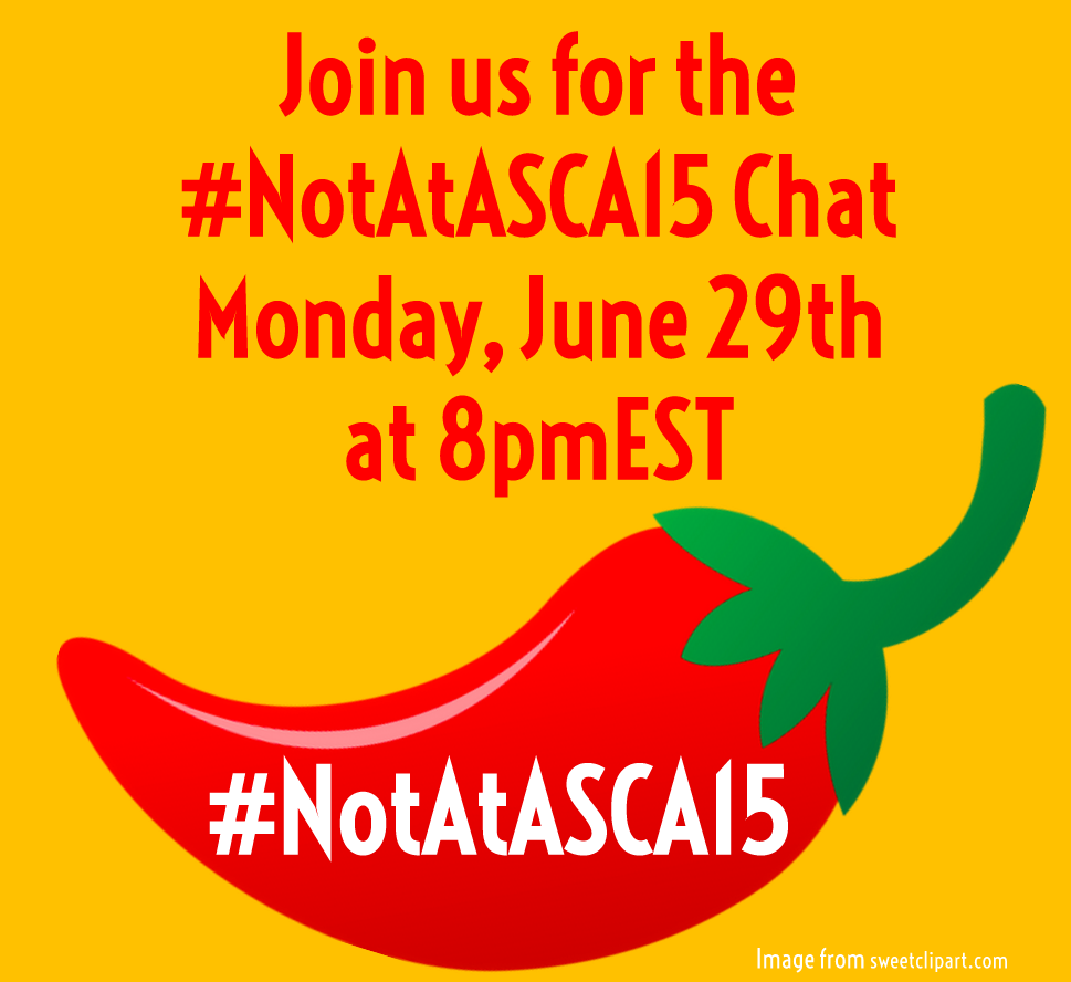 Join us in 15 minutes for the #notatasca15 chat! #ASCA15 #scchat http://t.co/vE9wwLJU2q