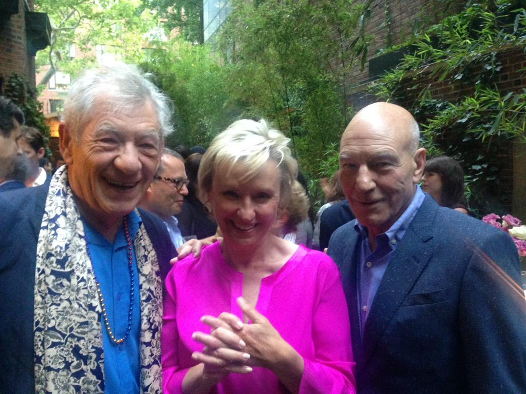 With @IanMcKellen celebrating the brilliant @SirPatStew and @BluntTalk_starz http://t.co/AZUZRCyqdz