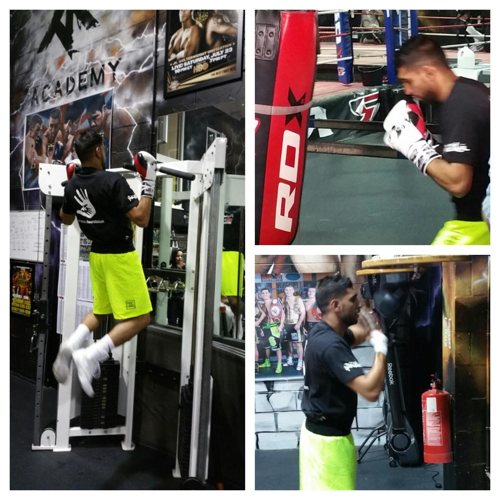 Still training @AmirKingKhan in the gym after midnight did fasting during the day then train lightly ticking over http://t.co/HBlnFjeZu1
