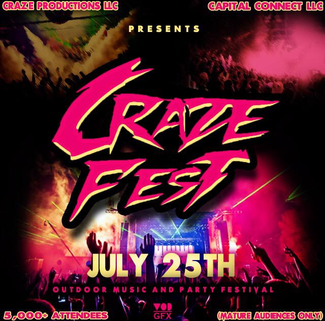 #CrazeFest 2015  Outdoor Music/Party Festival