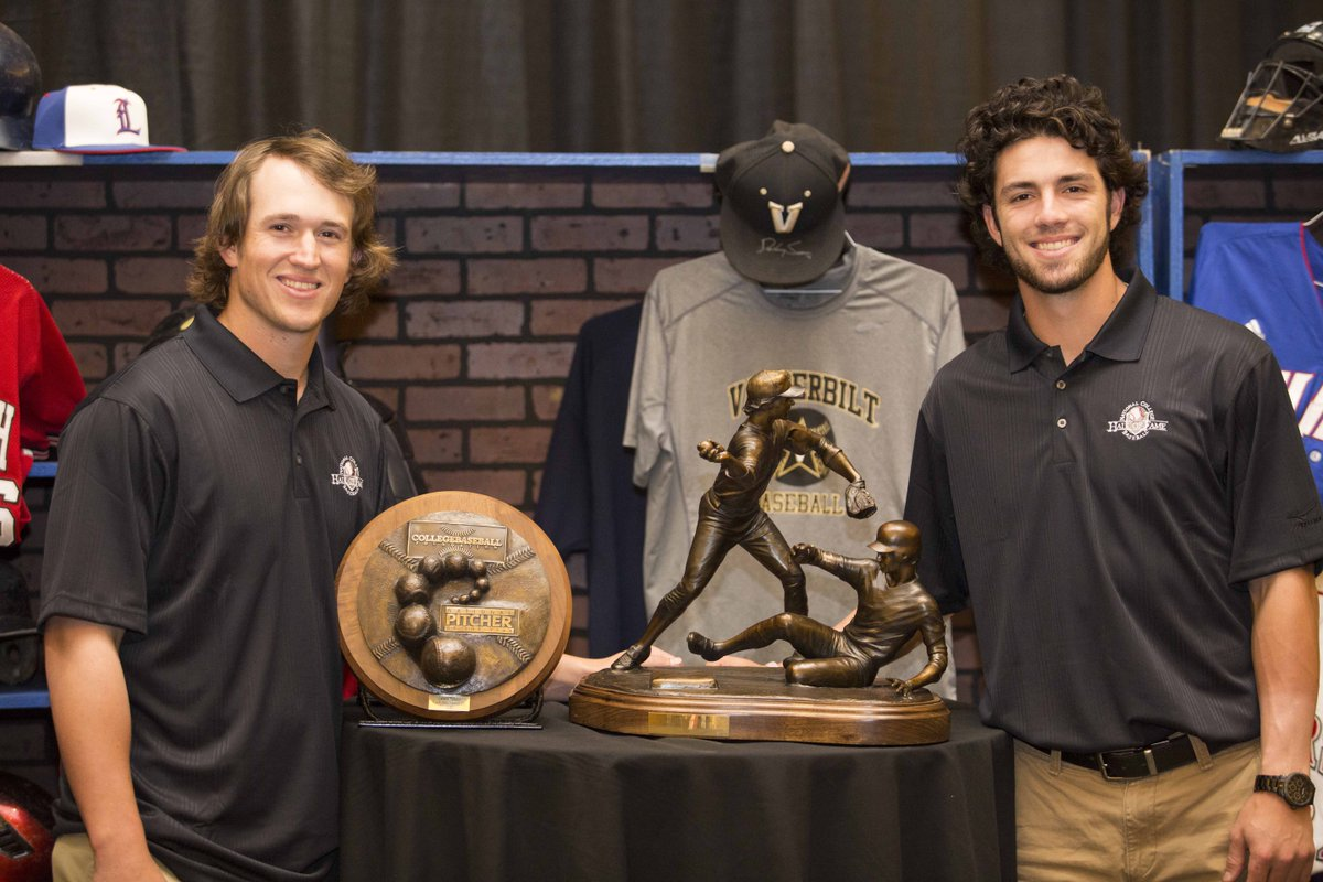 Vanderbilt Baseball On Twitter Carson Fulmer National Pitcher Of The Year Dansby Swanson Brooks Wallace Award Pick Up Their Hardware Tonight