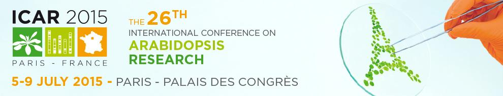 The hashtag for Arabidopsis conference at Paris, #ICAR2015 5 to 9th of July http://t.co/aO1PQBMlfp